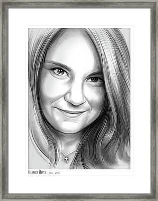 Heather Heyer Framed Print