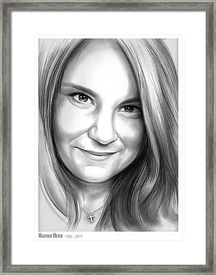 Heather Heyer Framed Print