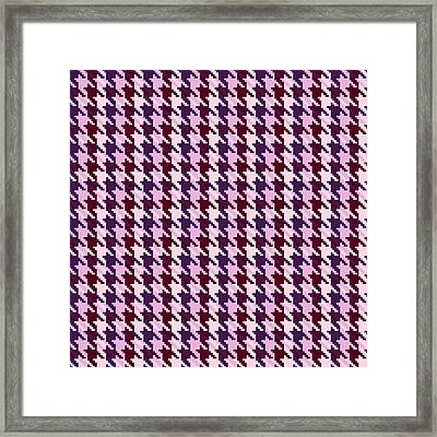 Heather Houndstooth Check Framed Print