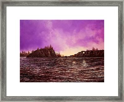 Heather's Bay Framed Print