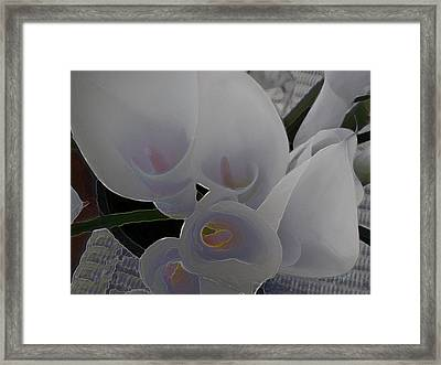 Heather's Flowers Framed Print