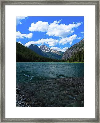 Heavan's Peak From Avalanche Lake Framed Print