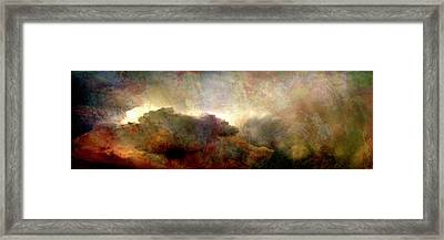 Heaven And Earth - Abstract Art Framed Print
