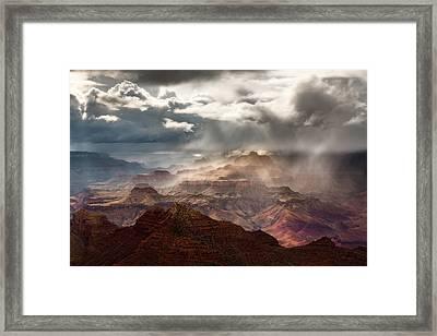 Heaven And Earth Framed Print by Adam Schallau