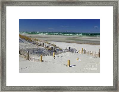 Heaven At Mayflower Beach Framed Print by Amazing Jules