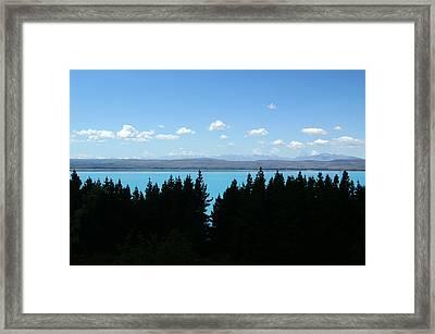 Heaven Blue Framed Print by Jessica Rose