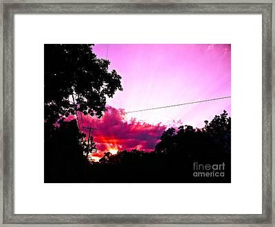 Heaven Is Earth Earth Is Heaven Framed Print by Chuck Taylor