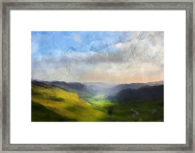 Heaven On Earth Landscape Art Framed Print by Georgiana Romanovna