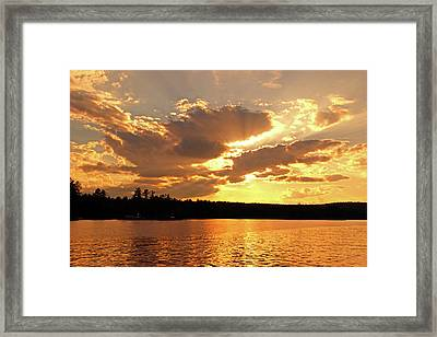 Framed Print featuring the photograph Heaven Shining by Lynda Lehmann
