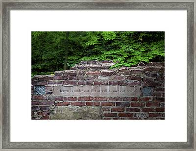 Heaven Under Our Feet Wall Framed Print by Tom Mc Nemar