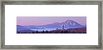 Heavenly Alpenglow Framed Print