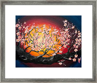 Heavenly Blossoms Framed Print by Olga Smith