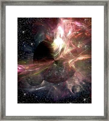 Heavenly Bodies Framed Print by Kathy Franklin