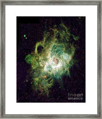 Heavenly Body  Triangulum Nebula Framed Print by Merton Allen