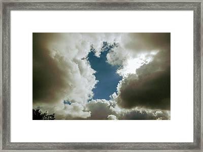 Majestic Clouds  Framed Print