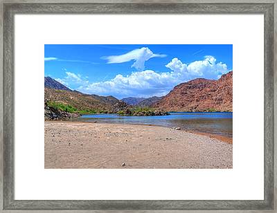 Heavenly Experience At Lake Mohave Framed Print