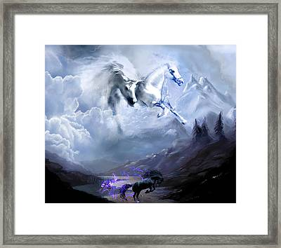 Heavenly Divine  Framed Print by Hector Cabrera