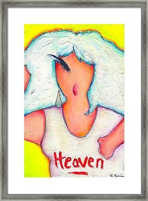 Heavenly Divine Framed Print by Ricky Sencion