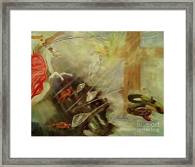 Heavenly Finale Framed Print