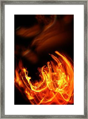 Heavenly Flame Framed Print
