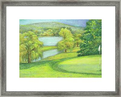 Heavenly Golf Day Landscape Framed Print