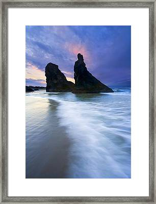 Heavenly Halo Framed Print by Mike  Dawson