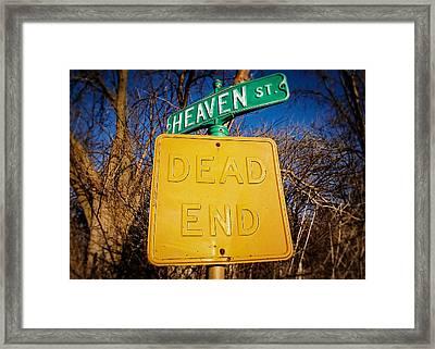 Heavenly Irony Framed Print by Todd Klassy
