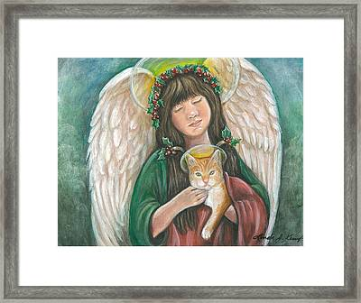 Heavenly Kitty Framed Print