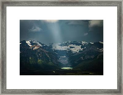 Framed Print featuring the photograph Heavenly Lake Louise by William Lee