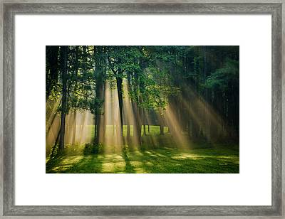 Framed Print featuring the photograph Heavenly Light Sunrise by Christina Rollo