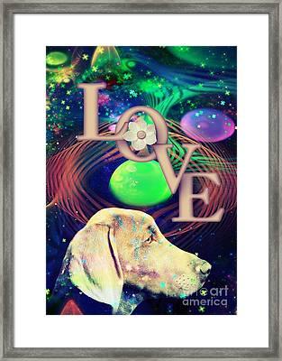 Framed Print featuring the digital art Heavenly Love by Kathy Tarochione