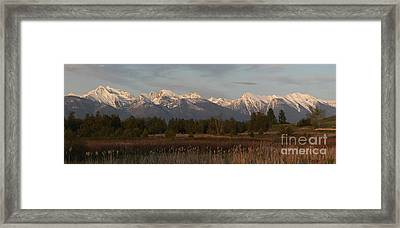 Heavenly Mission Panorama Framed Print