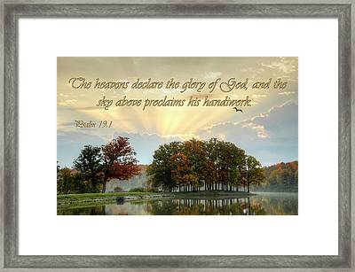 Framed Print featuring the photograph Heavenly Morning by Ann Bridges