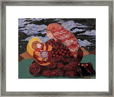 Heavenly Mother And Child Framed Print by Dede Shamel Davalos