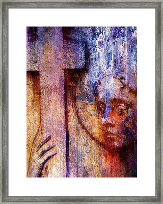 Heavenly Peace Abstract Realism Framed Print