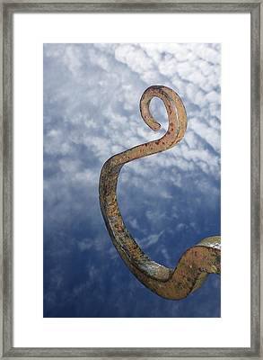 Heavenly Sky Hook Framed Print