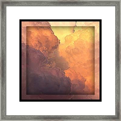 Heavenly Square 1 Framed Print by Carol Groenen