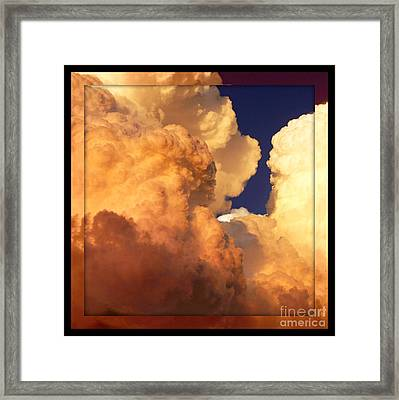 Heavenly Square 2 Framed Print by Carol Groenen