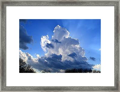 Framed Print featuring the photograph Heavenly Sunlight by Kathryn Meyer
