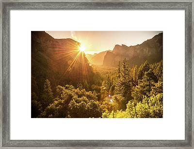 Heavenly Valley Framed Print by Kristopher Schoenleber