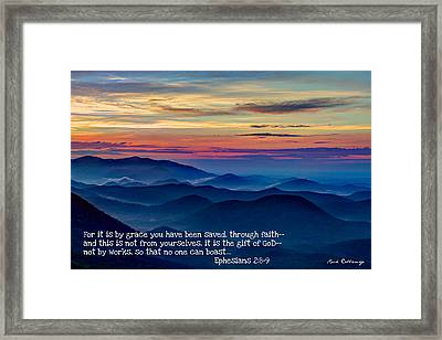 Heavenly View By Faith Pretty Place Chapel Framed Print by Reid Callaway