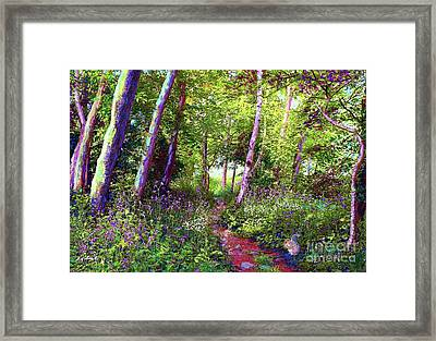 Heavenly Walk Among Birch And Aspen Framed Print by Jane Small