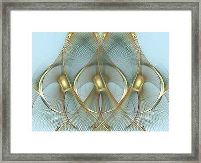 Heavenly Wings Of Gold Framed Print by Georgiana Romanovna