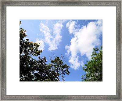 Heavens Abstract Sky Art Framed Print by Robyn King