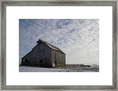 Heavens Barn Dusting Framed Print