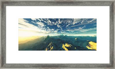 Heavens Breath 16 Framed Print