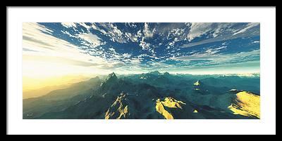 Aerial Framed Prints