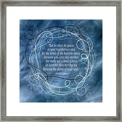 Heavens Dance Framed Print