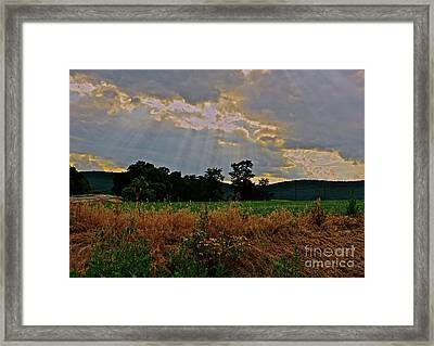 Heaven's Ever Loving Light Framed Print