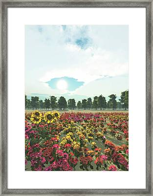 Heavens Eye Framed Print